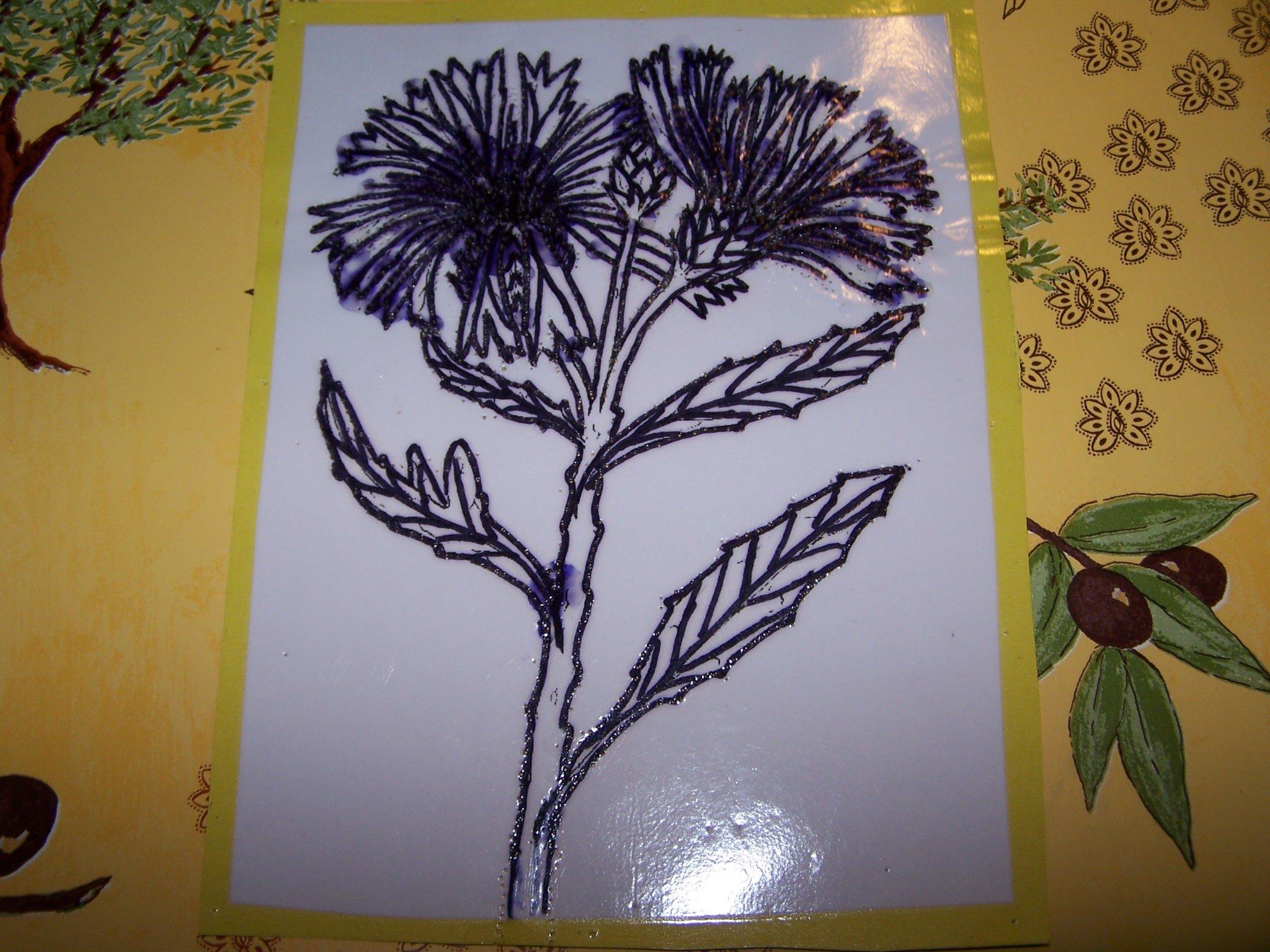 Le bleuet gisou la dentelli re - Coloriage fleur bleuet ...